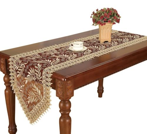 Simhomsen Burgundy Lace Table Runner 16 × 120 Inch Long