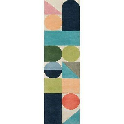 by momeni delmar multicolor wool geometric rug