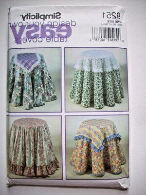 circle tableclothes runners pattern 9251 uncut