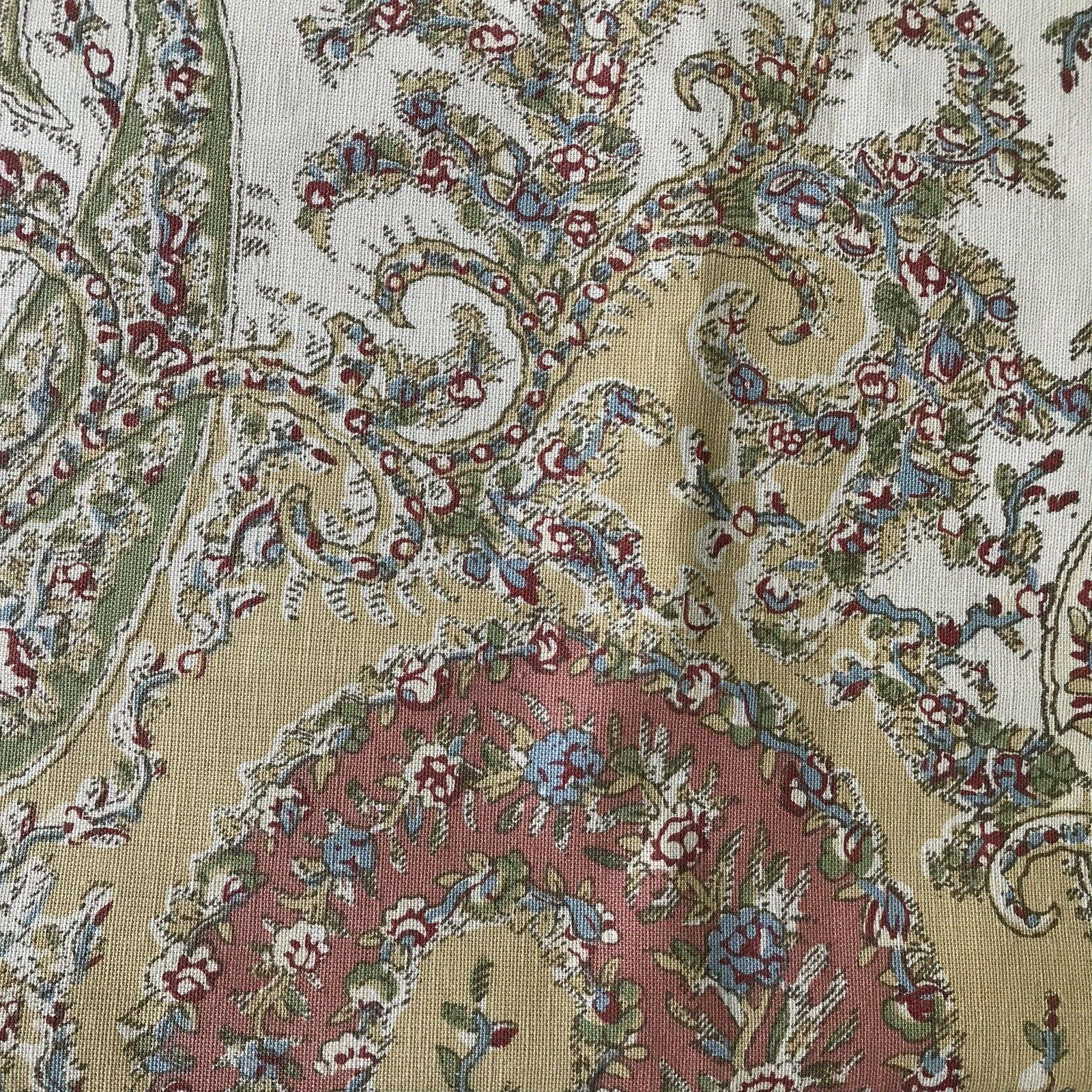"""Pottery Barn Floral 18"""" Cotton Linen FLAW New"""