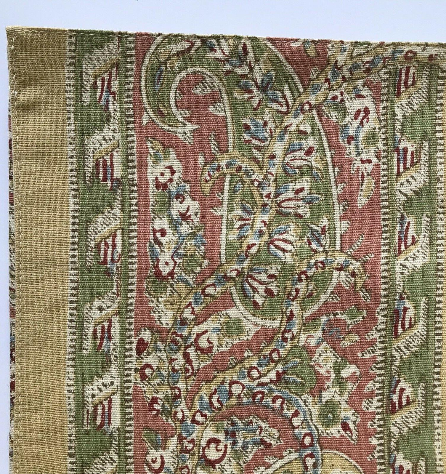 """Pottery Barn Floral Runner 18"""" Cotton New"""