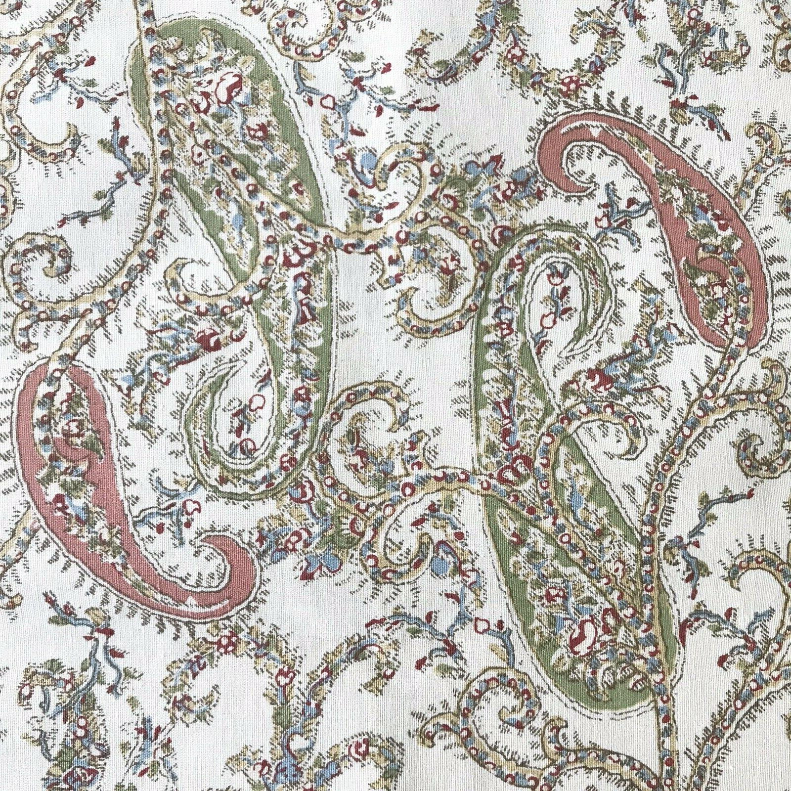 """Pottery Barn Collette Paisley Floral 18"""" Cotton New"""