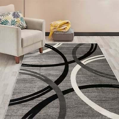 contemporary abstract circles design area rug
