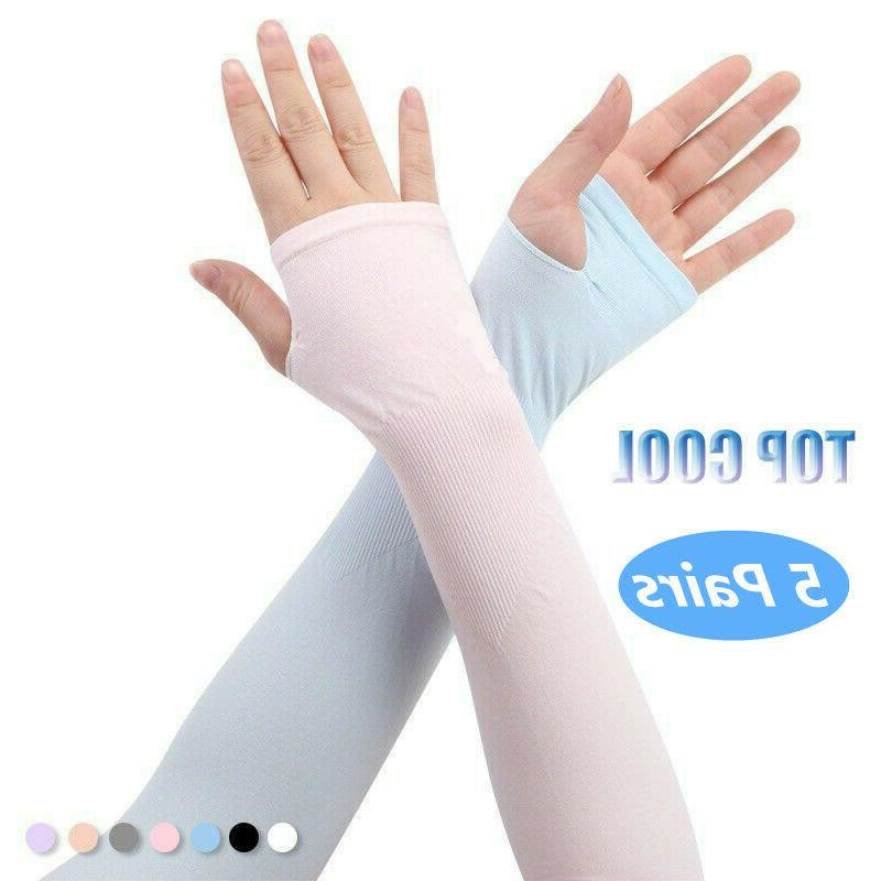 Cooling UV Sun Protection Outdoor Runner Sports 5 Pairs