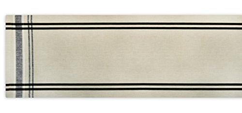 """DII Washable, Everyday Stripe Kitchen Table Runner Dinner Parties, 14x108"""""""