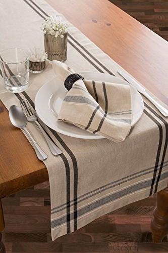 """DII Machine Washable, French Dinner Events, 14x108"""" -"""