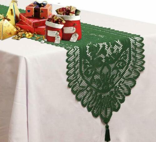 Crochet Lace Runner for Holiday