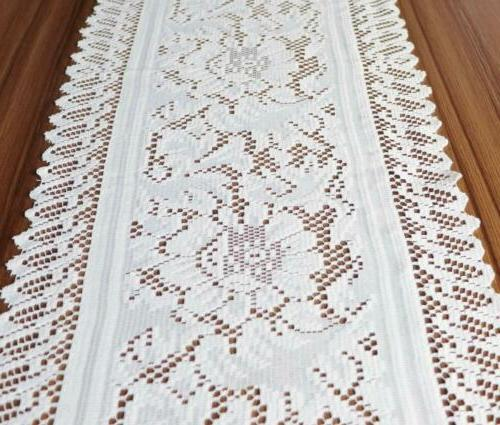 Crochet Lace Runner Scarf Doilies for Holiday Wedding