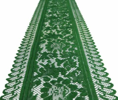 Crochet Lace Table Runner Dresser Scarf for Holiday