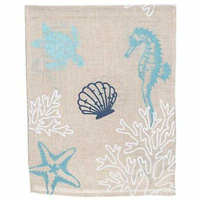 "DII Design Seashell Embroidered Runner 72"" Ships"