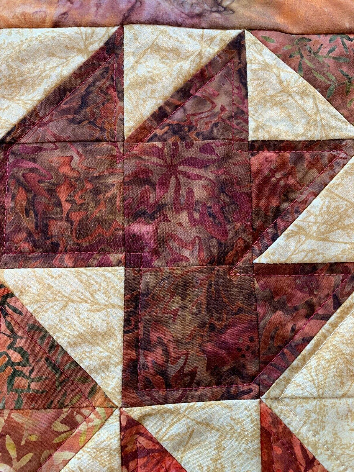 Fall Orange Quilted Topper