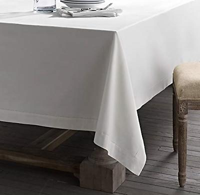 Fennco Classic Color Hemstitch Tablecloth for Table,