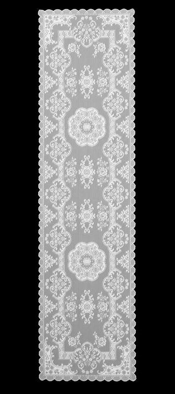 Heritage Lace FILIGREE White Table Runner