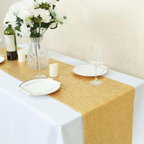 GFCC Sequin Table Runners 4PCS Glitter Party