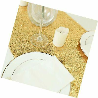 GFCC Gold - Gold Sequin Table Runners Glitter fo...