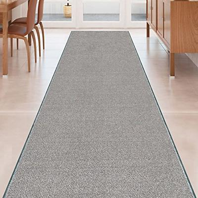 grey solid plain rubber backed non slip