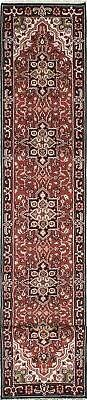 """Hand-knotted  Carpet 2'6"""" x 16'2"""" Royal Heriz Traditional Wo"""
