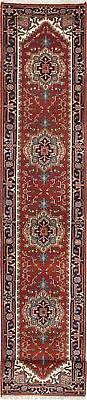 "Hand-knotted  Carpet 2'6"" x 16'0"" Serapi Heritage Traditiona"