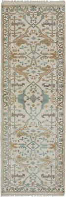 "Hand-knotted Carpet 2'7"" x 7'9"" Royal Ushak Traditional Wool"