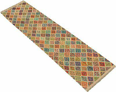 """Hand woven x 9'10"""" Bold Colorful Rug"""
