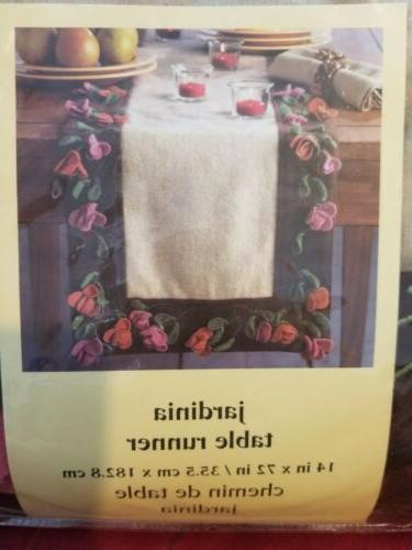 jardinia table runner floral brand new