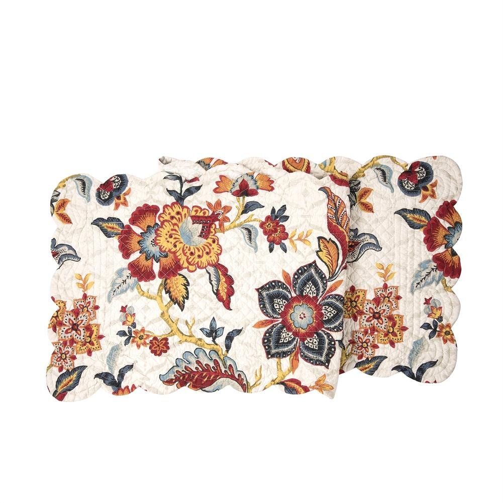 kennedy jacobean quilted table runner 51 l
