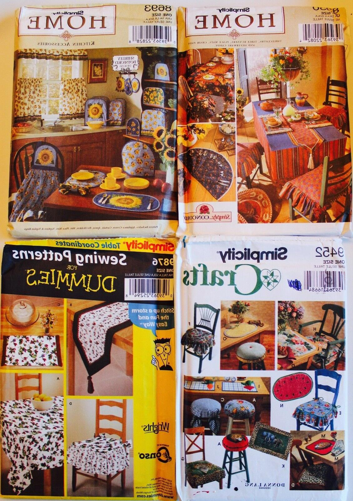 KITCHEN ACCESSORIES Pattern ~ Placemats Runners Hotpads Apro