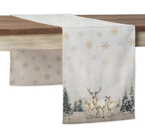 Maison d' Hermine Deer in The Woods 100% Cotton Table Runner