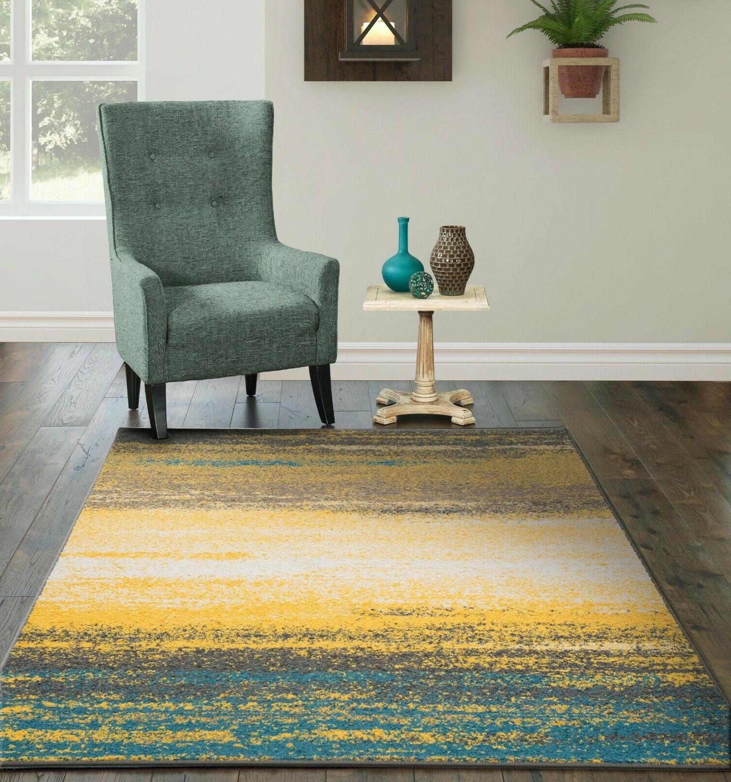 modern area rugs for living room yellow