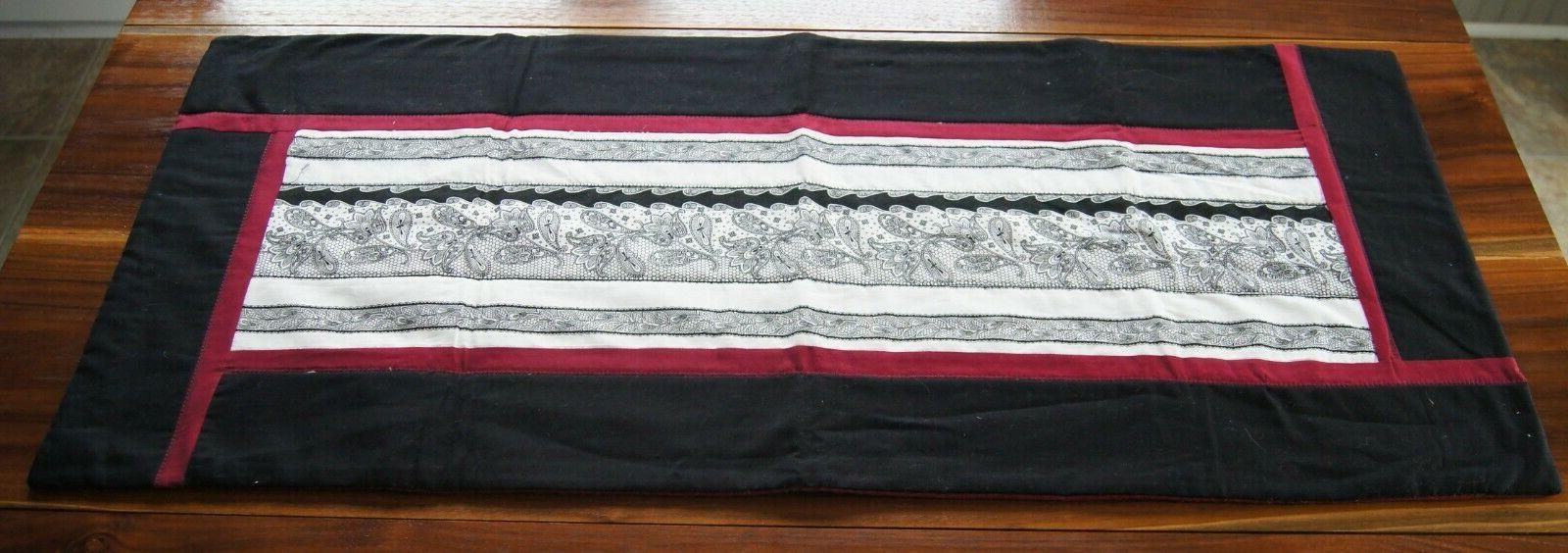 new handcrafted black white maroon decorative table