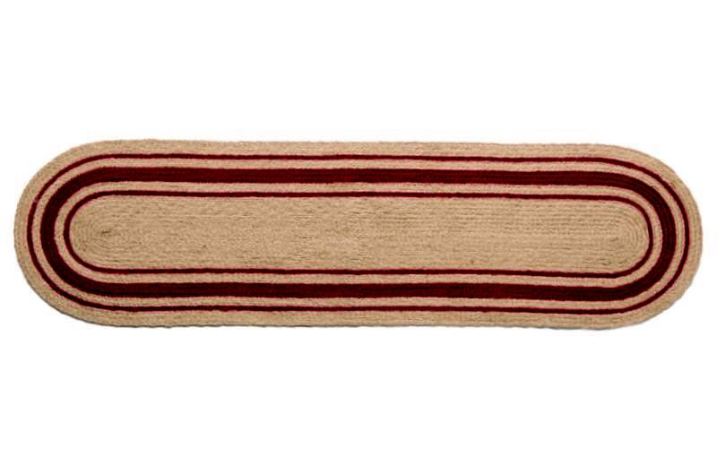 "IHF Home Decor Oval Table Runner Braided Rug Cameron 13""x48"""