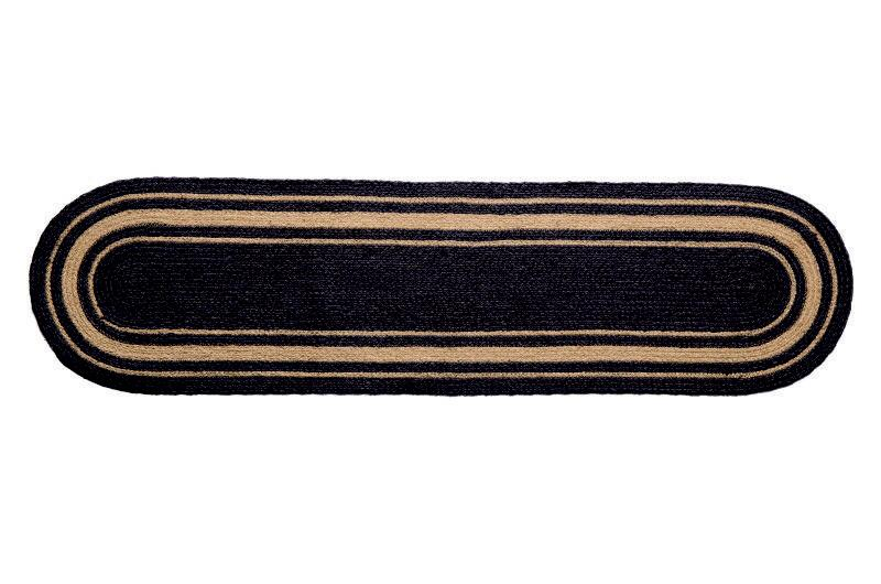 "IHF Home Decor Oval Table Runner Braided Rug Grayson 13""x48"""