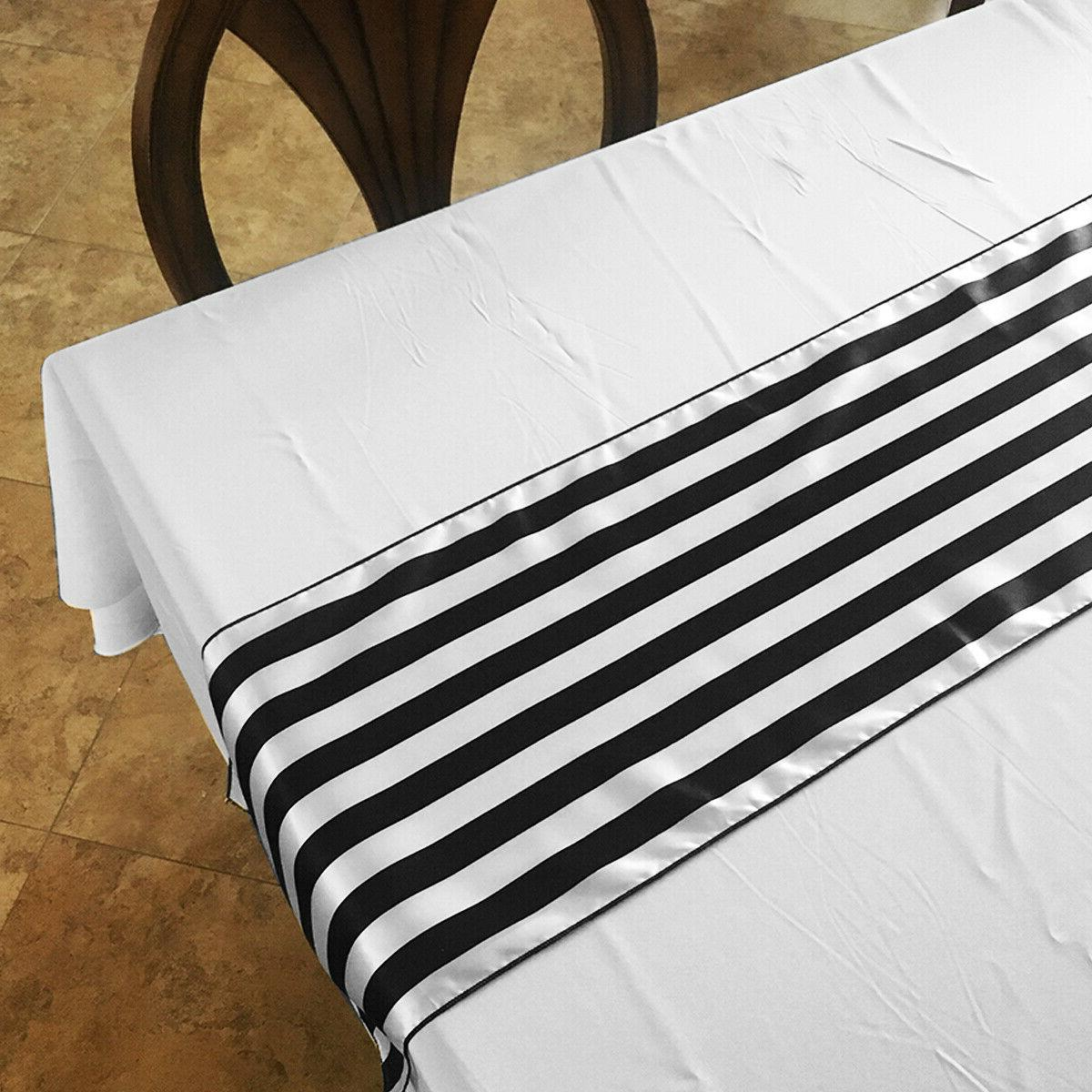 Pack of Satin 1 Inch Striped Runners For