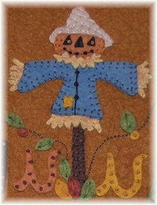 PATTERN~*ScArEcRoW Runner~Candle Mat~Penny *PATTERN*