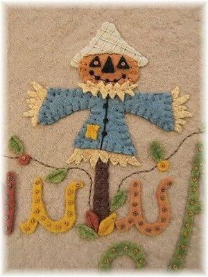 PATTERN~*ScArEcRoW JaCk*~Autumn Runner~Candle Mat~Penny Rug