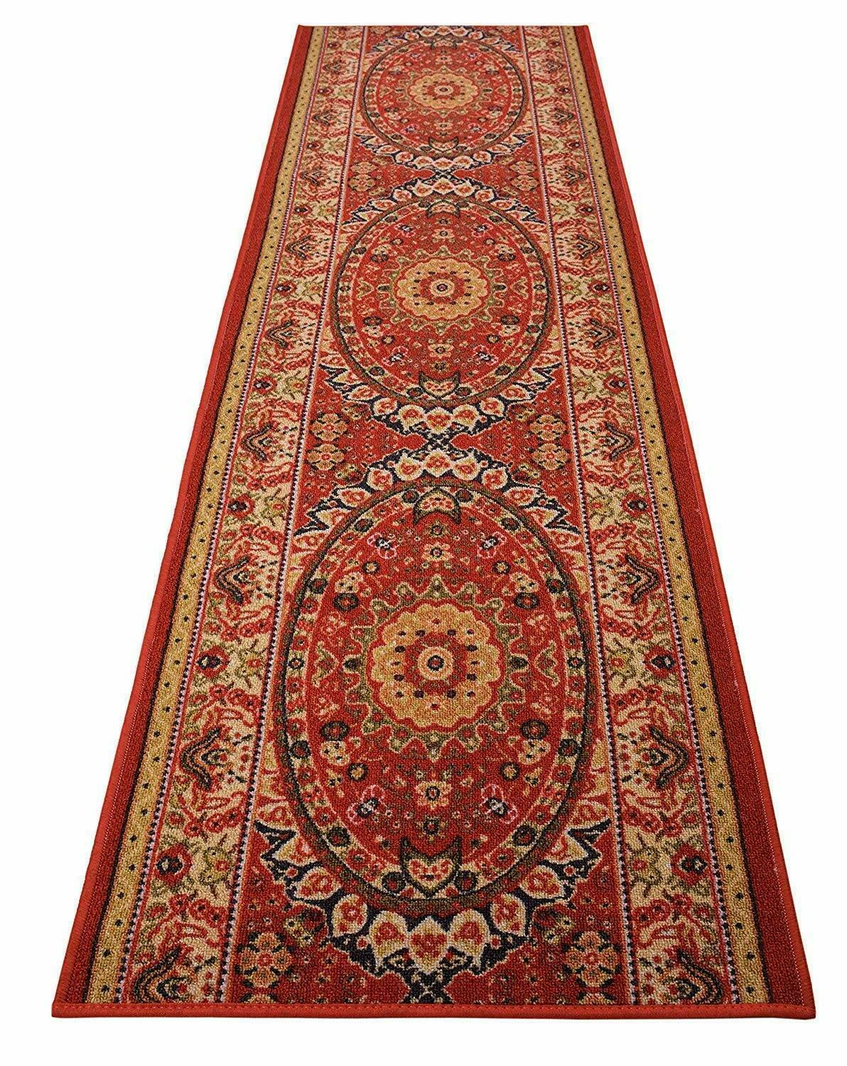 persian custom size antibacterial medallion isfahan red
