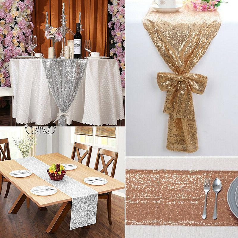 Rose Gold/Silver Glitter Sequins Table Wedding