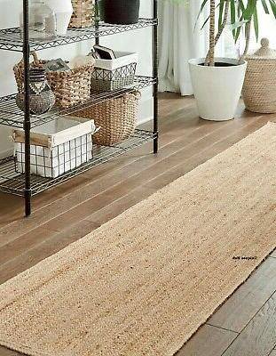 Rug 100% Natural 2x4 Feet Braided area runner outdoor rugs