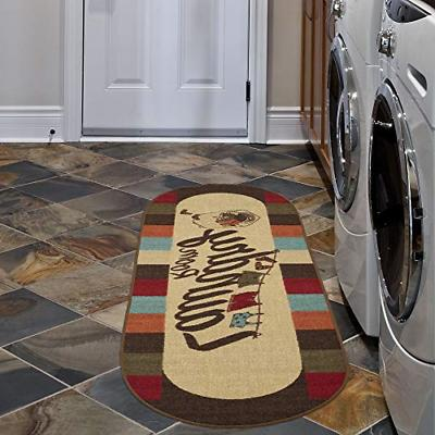 Rug Runner Mat Laundry Room Country Oval Decor 20x59