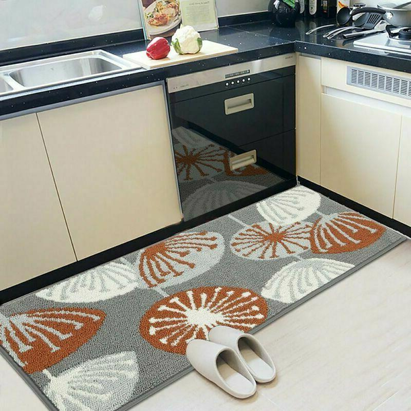 Seloom Durable Kitchen Rug Runners Backing And Unique