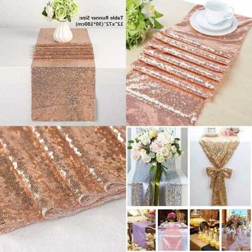 sequin table runner rose gold sparkly perfect
