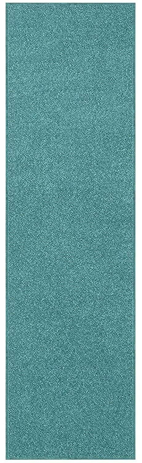 solid color teal custom size runner area