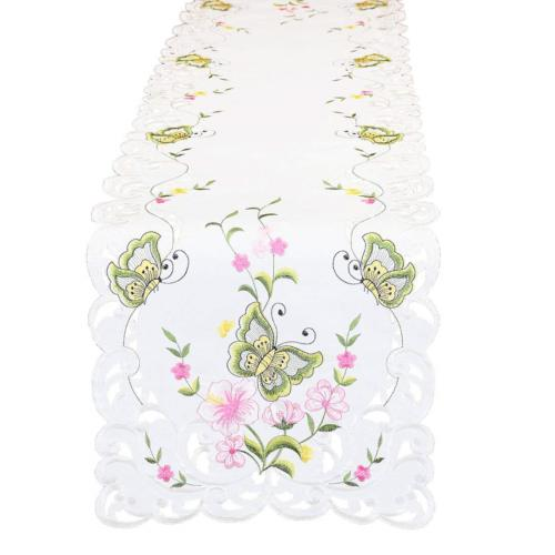 Simhomsen Spring Butterfly Floral Runners, Dresser Scarf 14