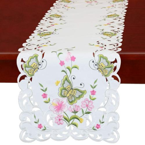spring butterfly and floral table runners dresser