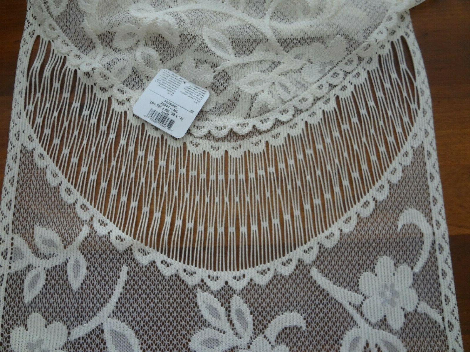 Heritage lace table runner Jasmine floral 14 x Ecru New