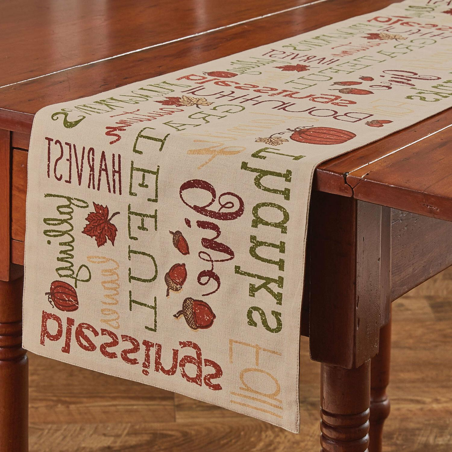 table runner 36 harvest sentiments by fall