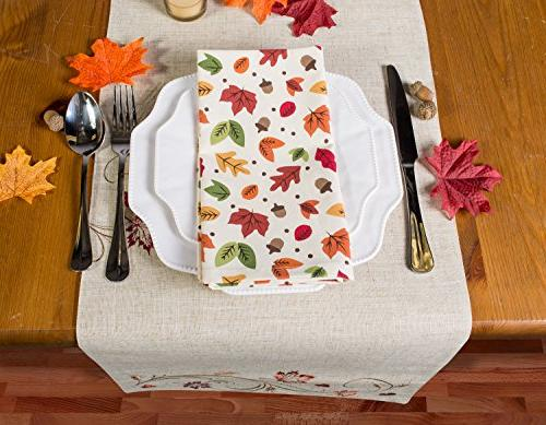 DII Polyester Table Runner, Autumn - Thanksgiving, Everyday Use