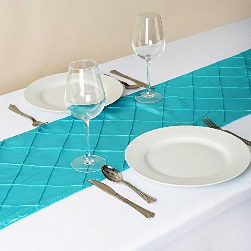 BalsaCircle 108-Inch Turquoise Table Top Runner Party Linens