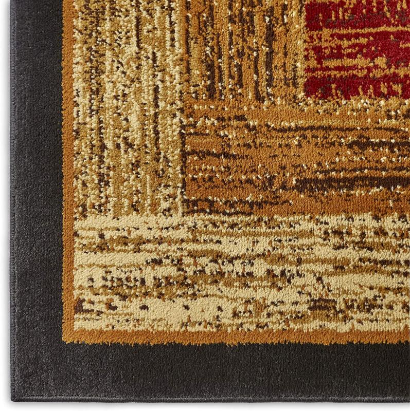 """Home Dynamix Area Black/Brown/Red 5'2""""X7'2"""