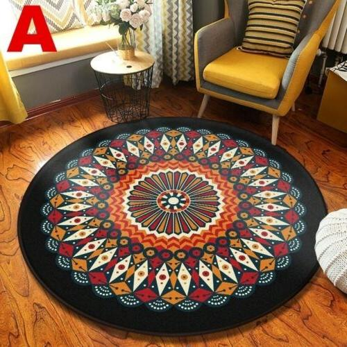 Wool Round Area Rug Throw Runner Soft Rug